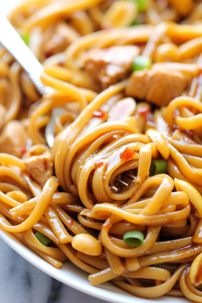 CPK's Kung Pao Spaghetti - A copycat recipe that you can make right at home in less than 20 minutes. And it tastes even better than the restaurant version!