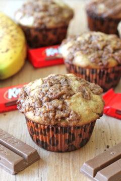 Banana Bread Kit Kat Muffins