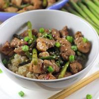 Pork and Asparagus with Hoisin Sauce
