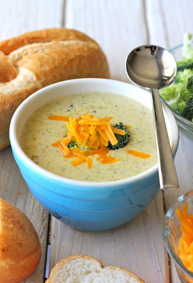 Cream of Broccoli Cheese Soup - So cozy, so cheesy, and chockfull of veggies!
