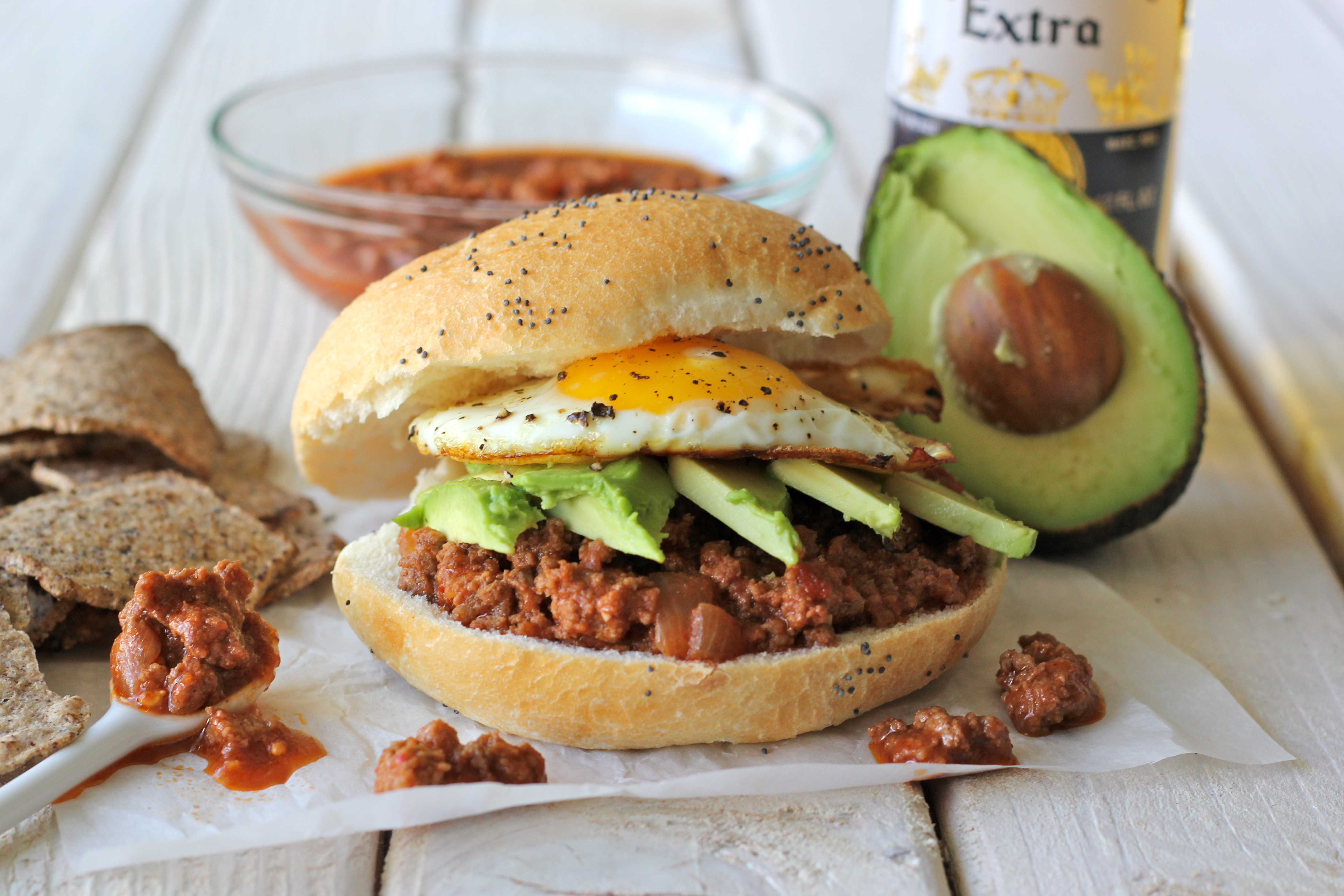 Sloppy Joes with Avocado and Fried Egg - Damn Delicious