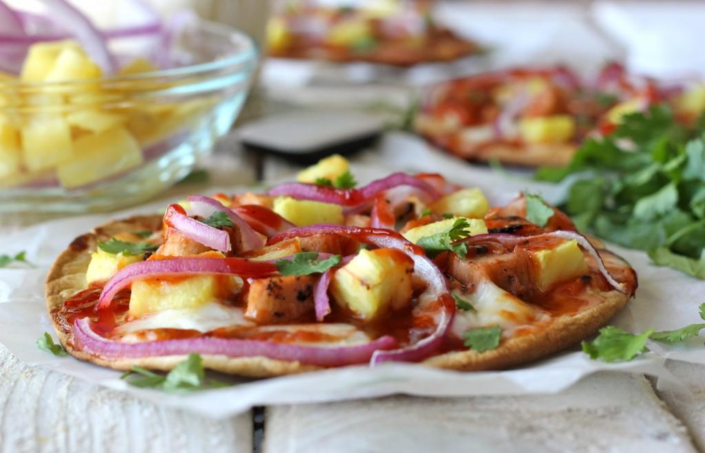 Hawaiian BBQ Turkey Flatbread Pizza