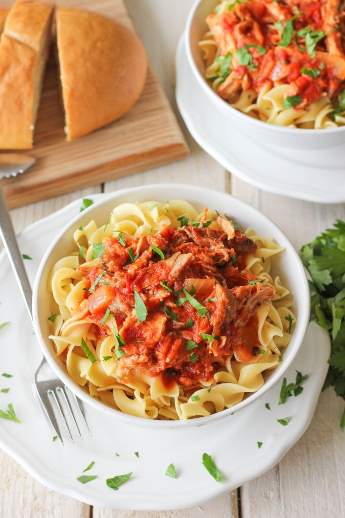 Slow Cooker Pork Ragu - Flavorful, tender pork easily made in the crockpot for a crowd pleasing dinner with such minimal effort!