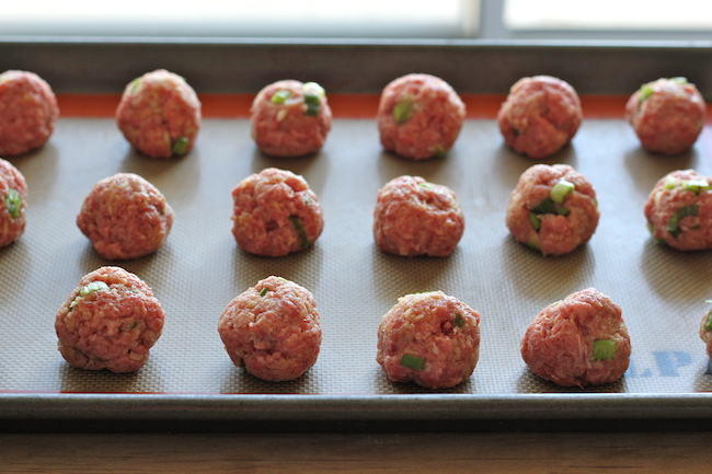 Hoisin Asian Meatballs - These juicy, tender meatballs are smothered with a sweet Hoisin glaze!