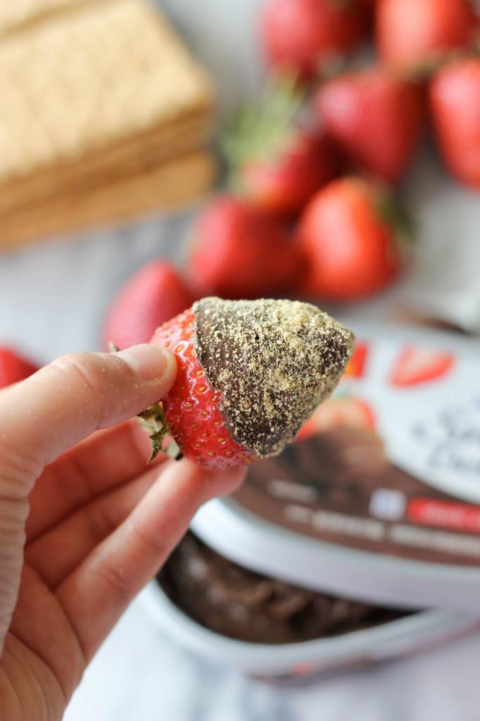 Milk Chocolate Graham Cracker Dipped Strawberries