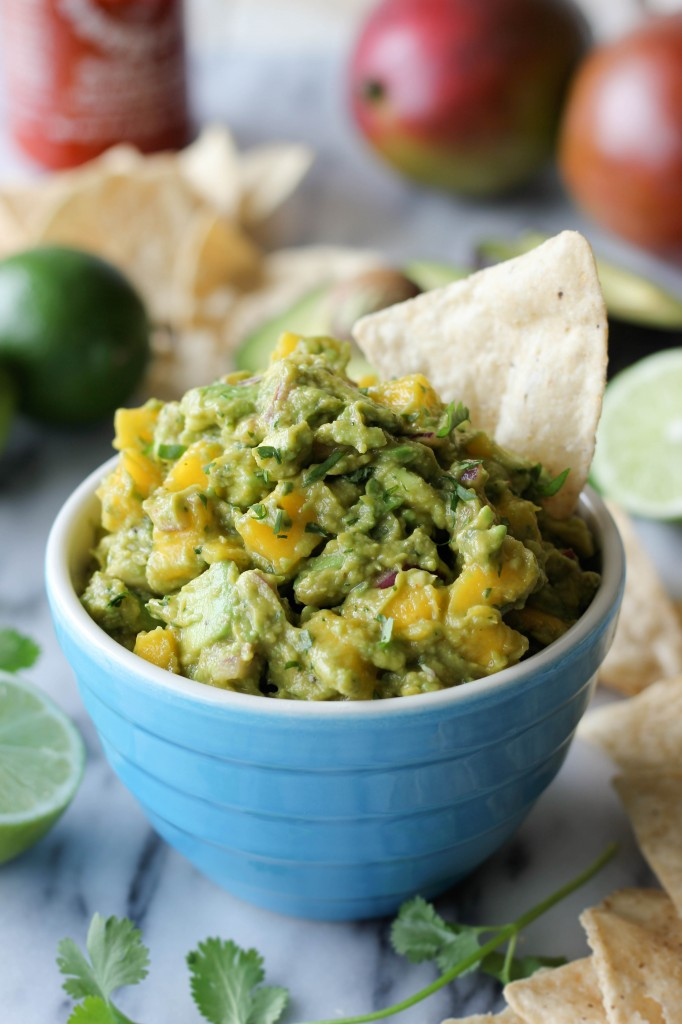 Sriracha Guacamole - A fun twist on traditional guacamole with added sweetness and Sriracha spiciness!
