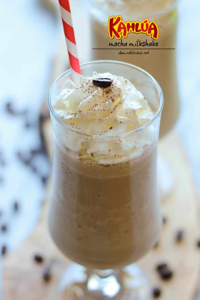 Kahlua Mocha Milkshake - Coffee, chocolate and booze all in one glorious milkshake that comes together in less than 5 min!