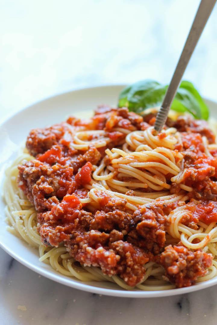 Slow Cooker Spaghetti Sauce Damn Delicious