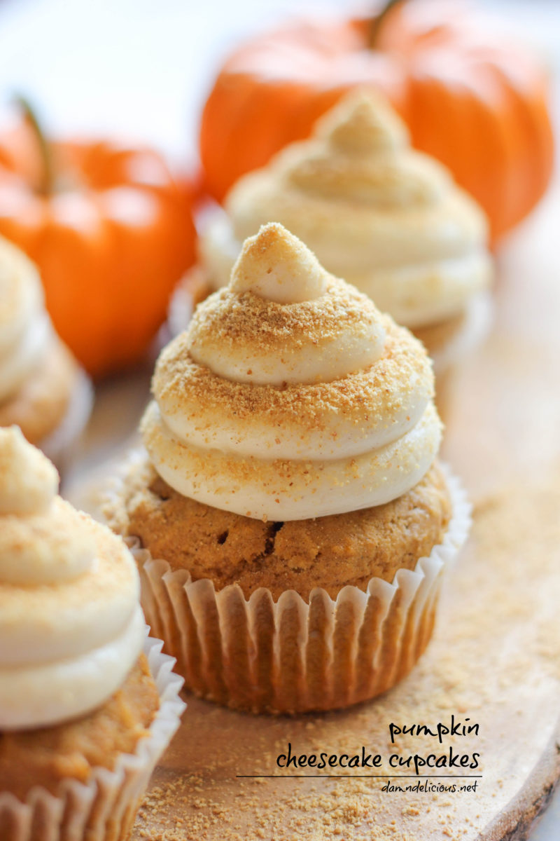 Thanksgiving Pumpkin Cheesecake Cupcakes | Thanksgiving Dessert Recipes | Decadent Cakes, Pies, And Pastries
