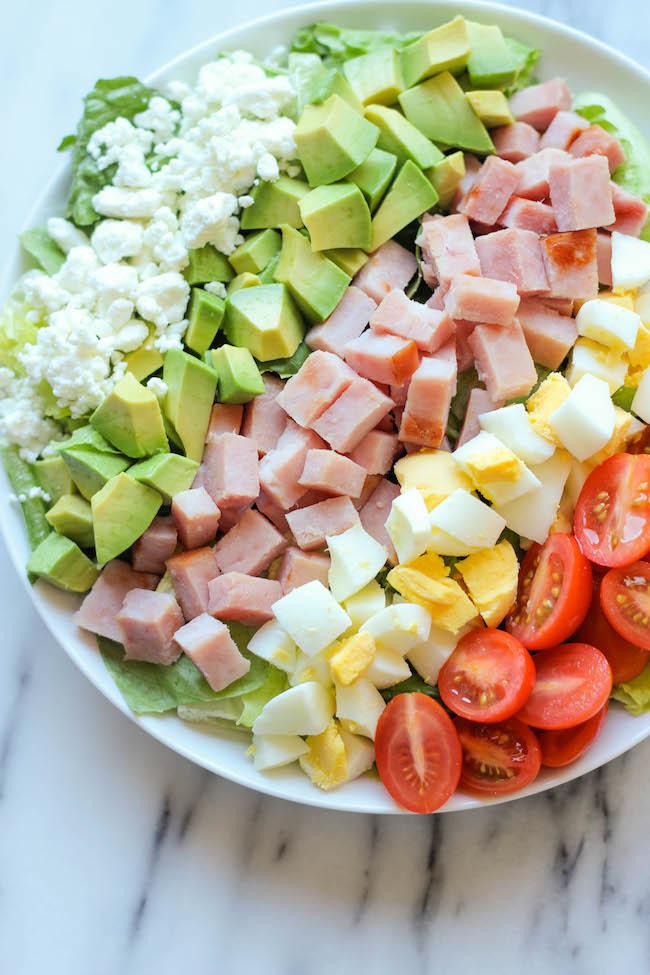 Ham Cobb Salad | http://homemaderecipes.com/cooking-101/14-leftover-ham-recipes/