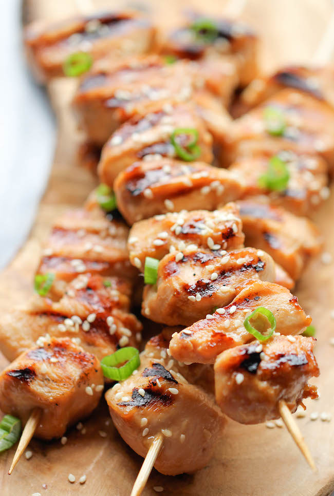 Chicken Teriyaki Kabobs Damn Delicious