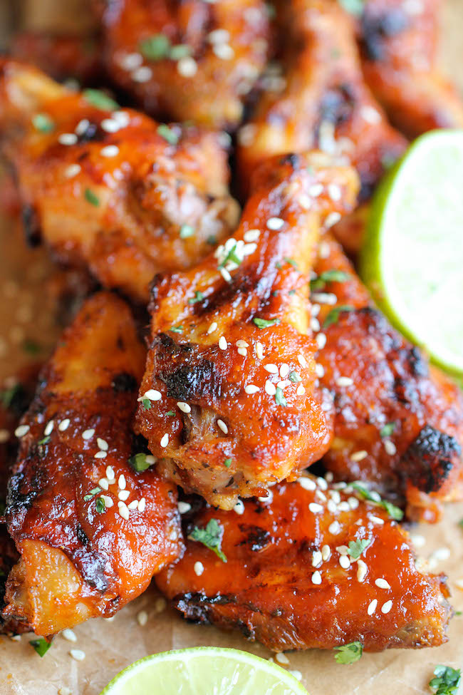 Baked Honey Sriracha Wings Damn Delicious