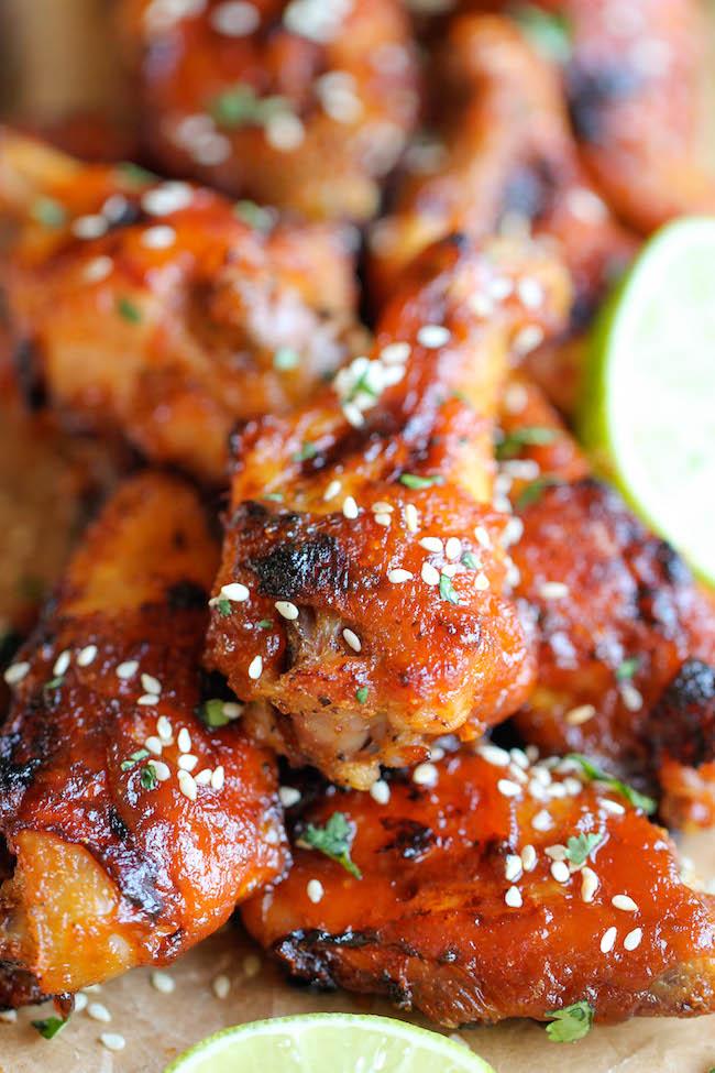 Baked Honey Sriracha Wings Damn Delicious