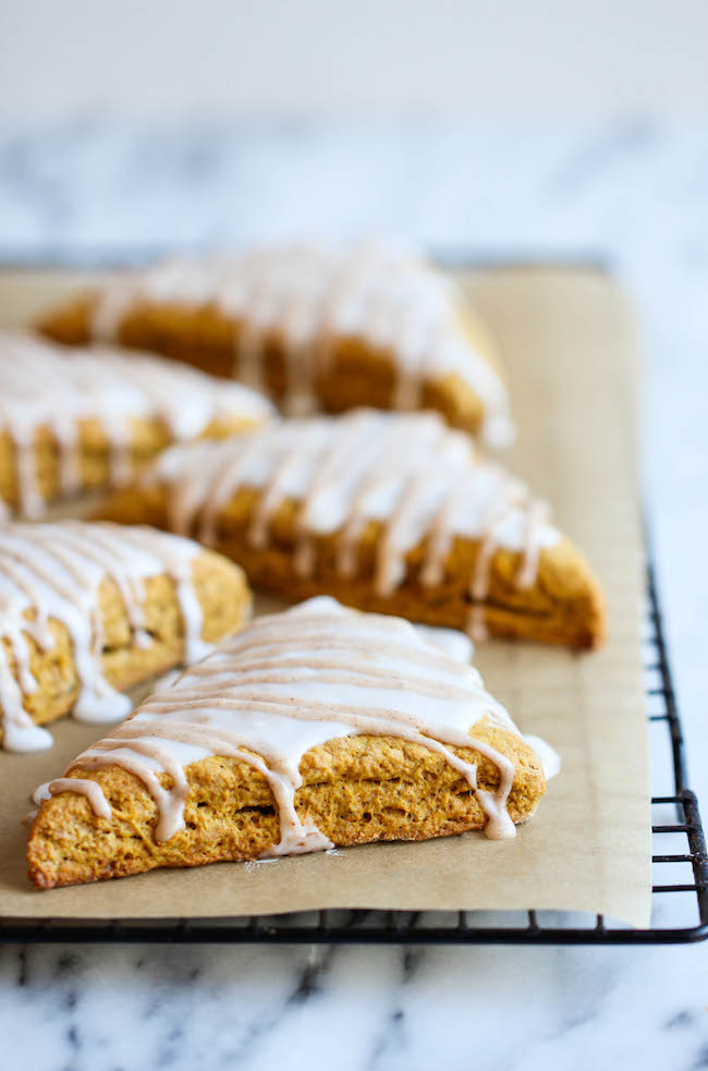 Starbucks Pumpkin Scones Copycat Recipe - These copycat scones are so easy to make and they're a million times tastier too!