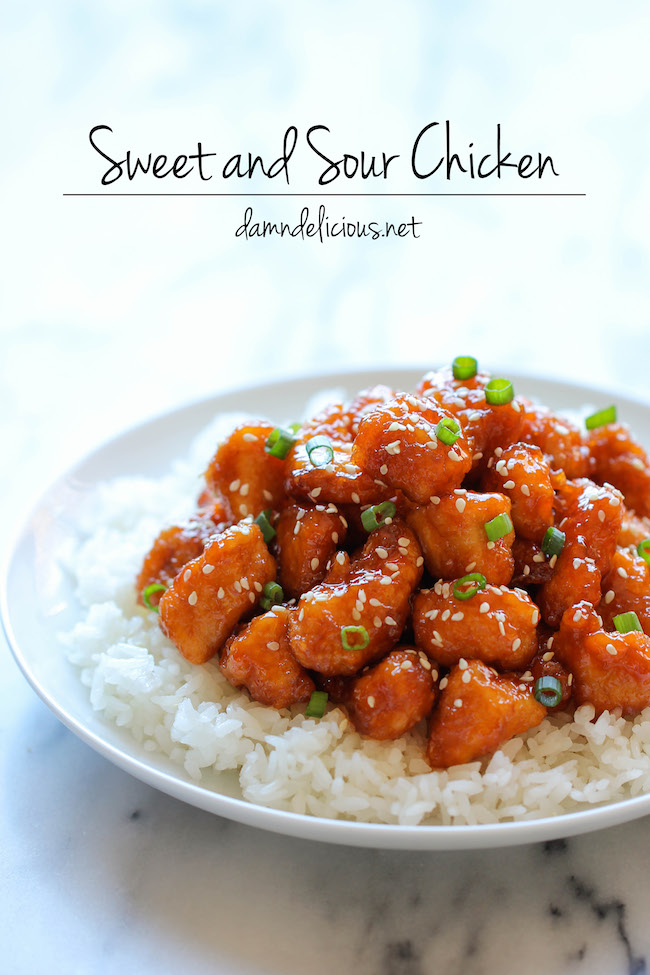 Baked Sweet And Sour Chicken Damn Delicious
