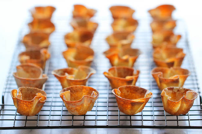 Strawberry Wonton Cups - These elegant wonton cups come together so quickly and easily, and you can even make them ahead of time!