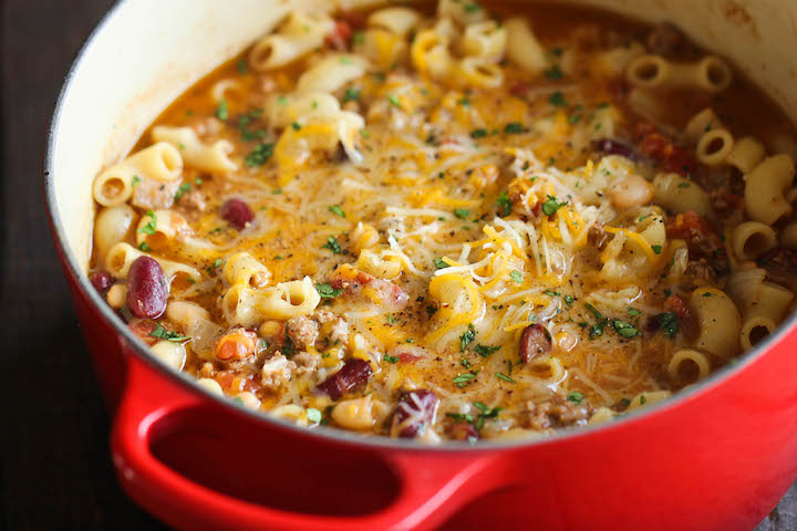 One Pot Chili Mac And Cheese Damn Delicious