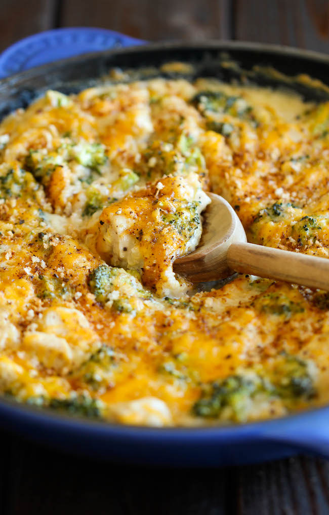 Broccoli Quinoa Casserole - Healthy, cheesy comfort food without any of the guilt!