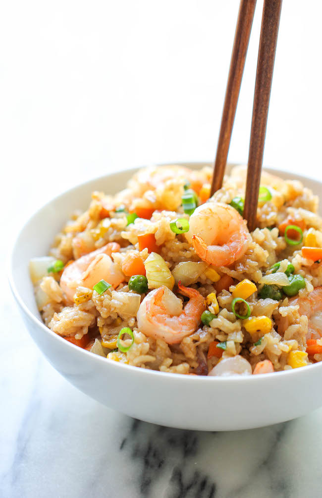 Shrimp fried rice damn delicious shrimp fried rice why order take out this homemade version is so much ccuart Choice Image