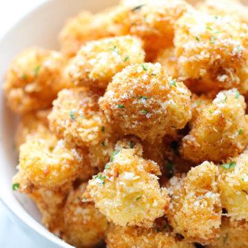 Parmesan Cauliflower Bites Damn Delicious
