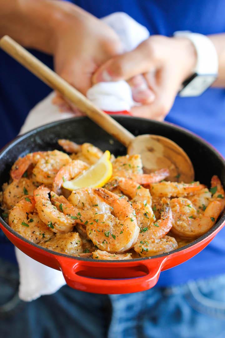 Garlic Butter Shrimp Damn Delicious