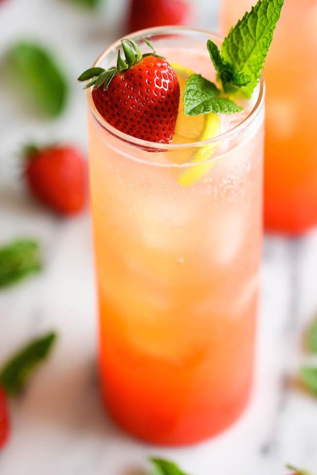 Sparkling Strawberry Lemonade Damn Delicious