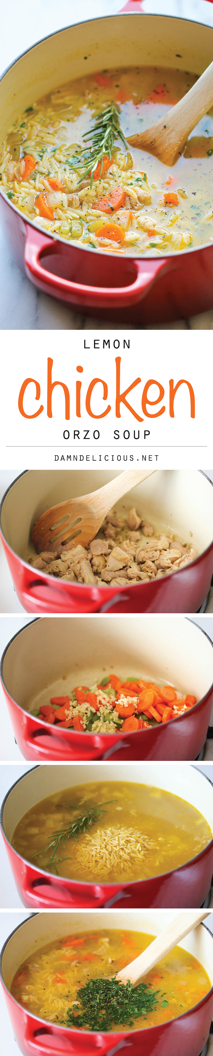 Lemon Chicken Orzo Soup | http://homemaderecipes.com/cooking-102/healthy-recipes/orzo-recipes/