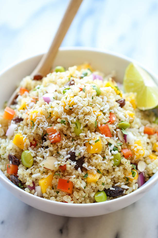 15 quick and easy lunch recipes damn delicious whole foods california quinoa salad a healthy nutritious copycat recipe that tastes 1000x better forumfinder Image collections