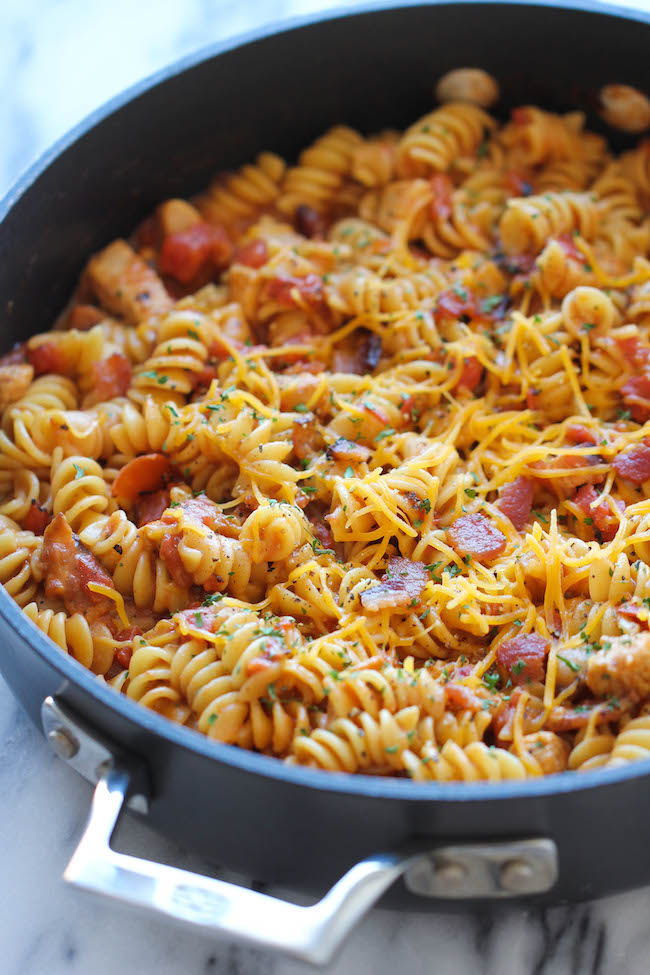 One Pot BBQ Chicken Pasta