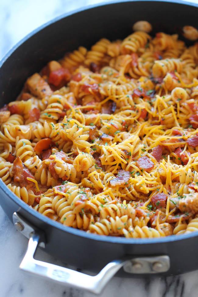One pot bbq chicken pasta damn delicious forumfinder Images