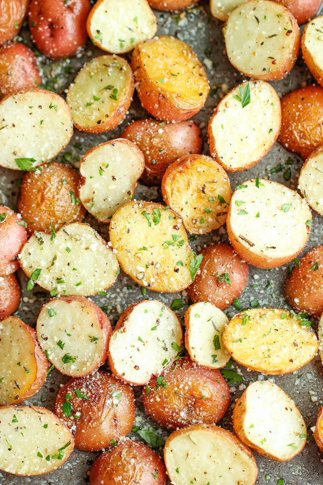 Garlic Parmesan Roasted Potatoes Damn Delicious