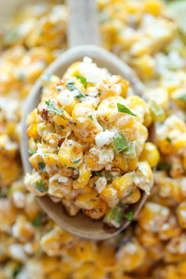 Mexican Corn Dip - The traditional Mexican street corn is turned into the best dip ever. It's so good, you won't even need the chips here!