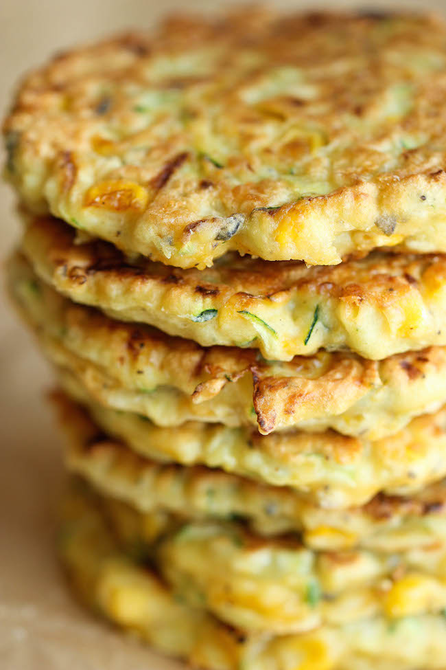 Zucchini corn pancakes damn delicious zucchini corn pancakes super easy pancakes perfect as a side dish or appetizer and ccuart Choice Image