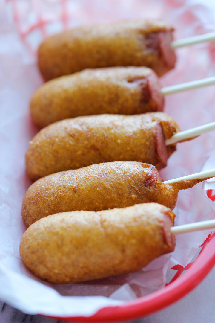 Easy Homemade Mini Corn Dogs - Damn