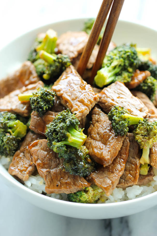 Easy Beef and Broccoli - The BEST and EASIEST beef and broccoli made in 15 min from start to finish. And yes, it's quicker, cheaper and healthier than take-out!