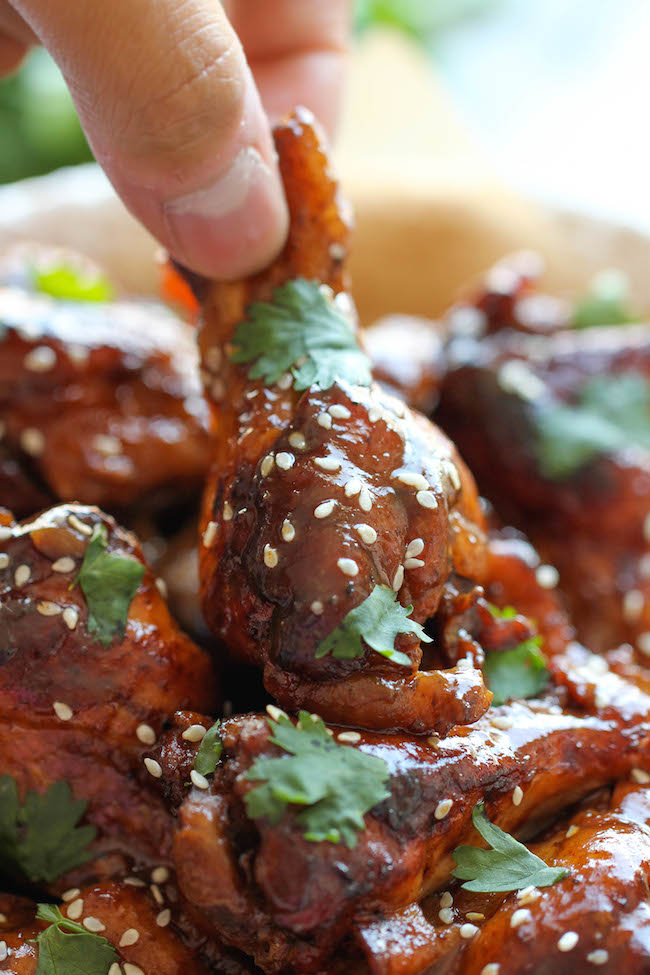 Slow Cooker Sticky Chicken Wings Damn Delicious