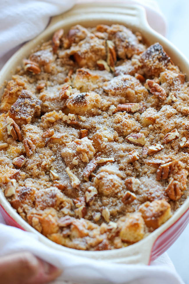 baked pumpkin cream cheese french toast easy peasy with the most amazing cream cheese filling
