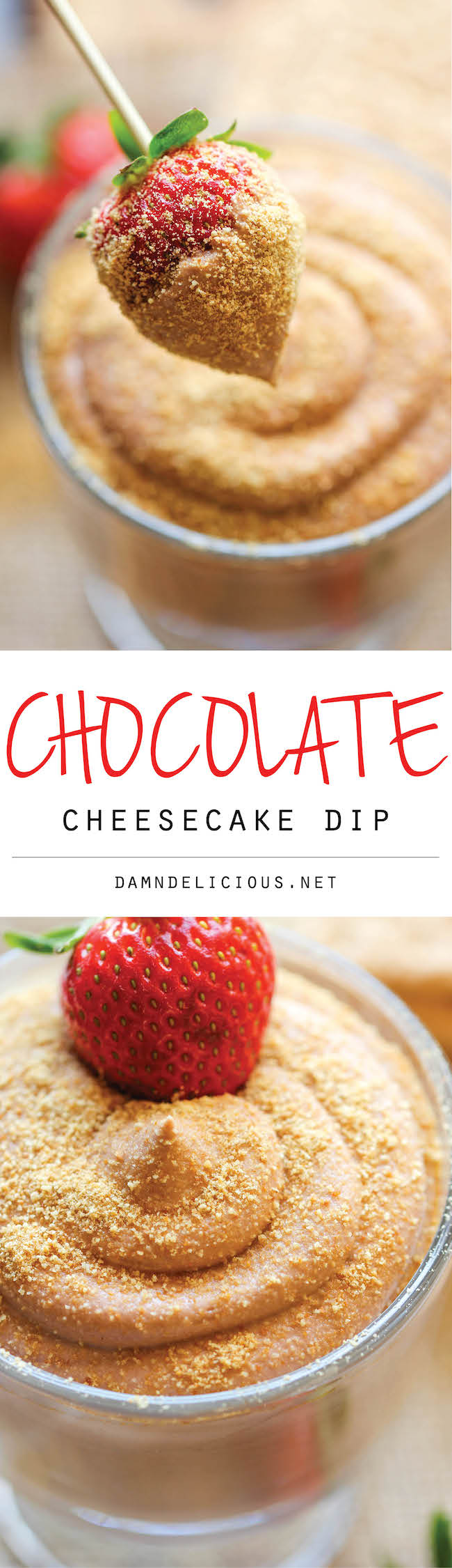 Chocolate Cheesecake Dip - This dip is unbelievably delicious, creamy, easy to make, and always a crowd pleaser!