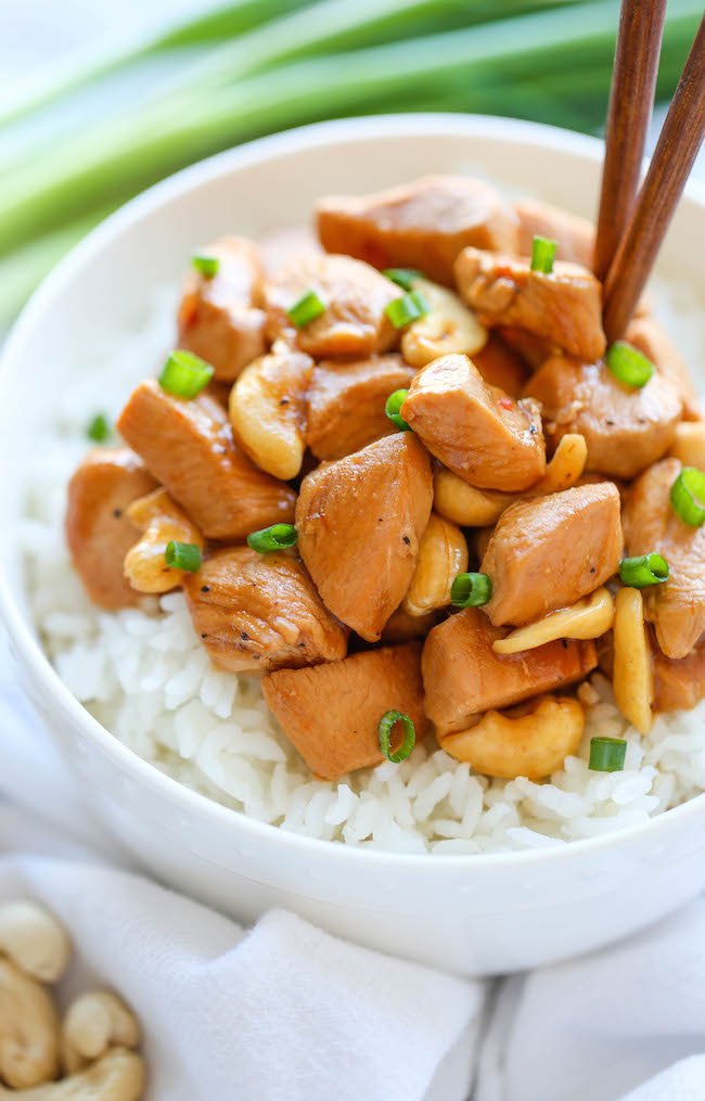Slow cooker cashew chicken damn delicious slow cooker cashew chicken forumfinder Choice Image