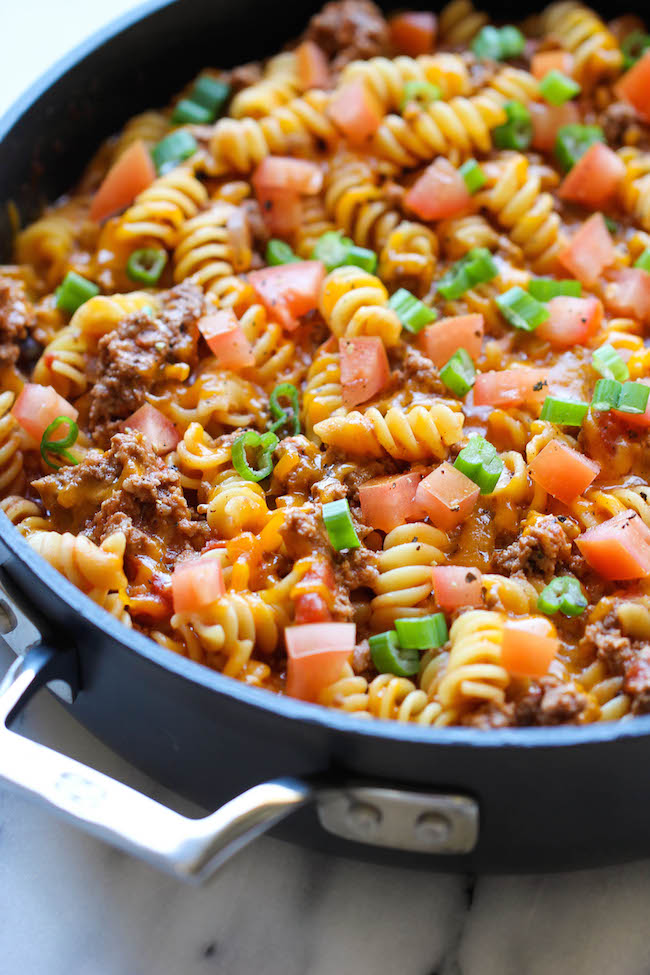 10 go to ground beef recipes damn delicious one pot cheeseburger casserole this cheesy goodness comes together so easily in one skillet forumfinder Gallery