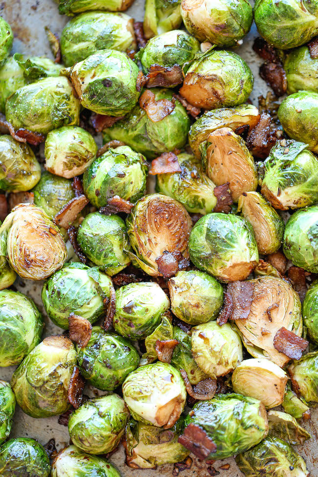 Roasted Garlic Brussels Sprouts Damn Delicious