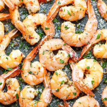 Garlic Parmesan Roasted Shrimp - Damn Delicious