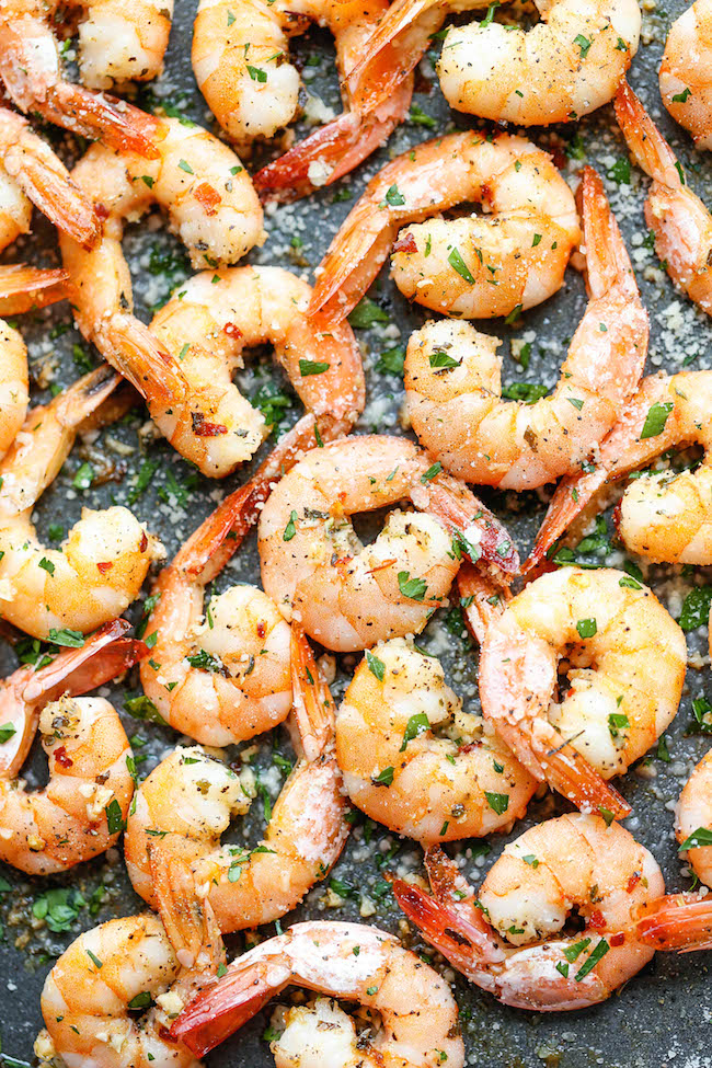 Garlic Parmesan Roasted Shrimp Damn Delicious