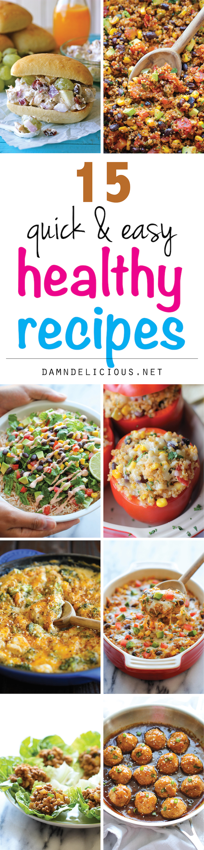 15 quick and easy healthy recipes - damn delicious