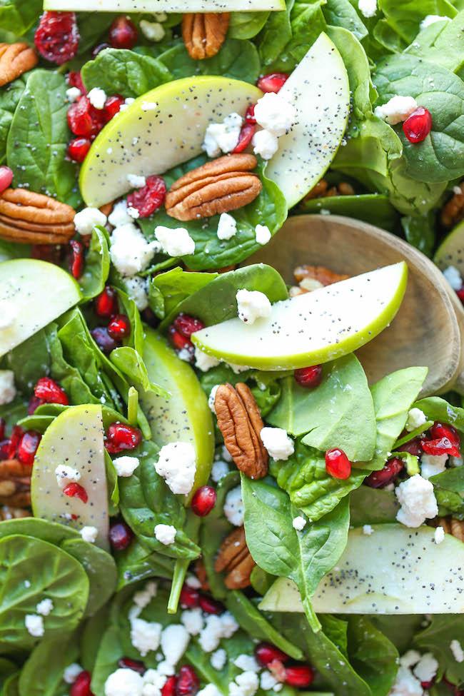 Apple Cranberry Pecan Salad - Antioxidant Challenge Recipe Roundup- 36 Recipes!