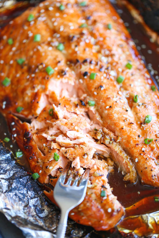 Asian Salmon in Foil - The best and easiest way to make salmon in foil – and you won't believe how much flavor is packed right in!