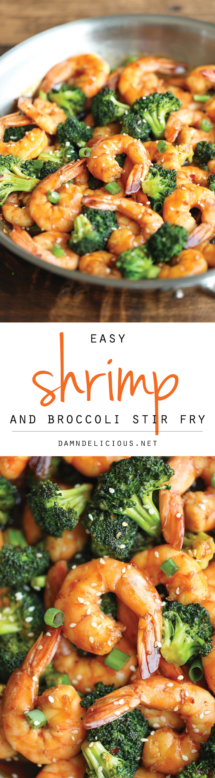 Easy Shrimp and Broccoli Stir Fry - The easiest stir fry you will ever make in just 20 min – it doesn't get easier (or quicker) than that! 287.3 calories.