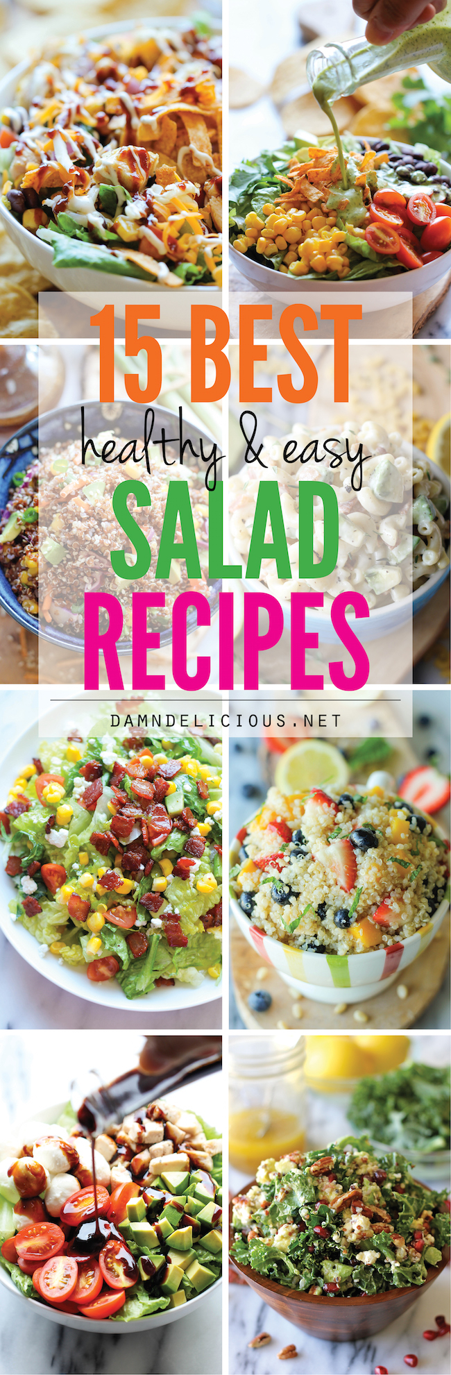 15 best healthy and easy salad recipes damn delicious 15 best healthy and easy salad recipes easy fresh and healthy salad recipes forumfinder Images
