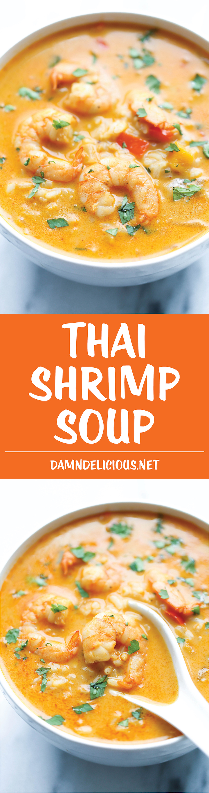 Thai Shrimp Soup - Skip the take-out and try making this at home – it's unbelievably easy and 10000x tastier and healthier!