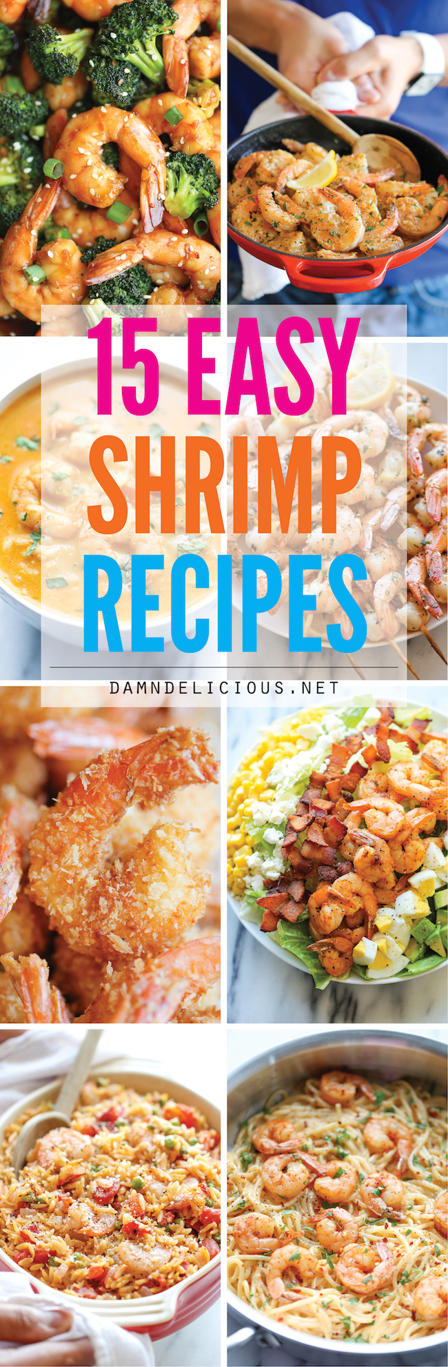 15 easy shrimp recipes damn delicious 15 easy shrimp recipes quick and easy shrimp recipes for any night of the week forumfinder Image collections